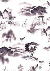 Sol-Insatsu-C02 (natexfrance) Tags: insatsu japonisant encre de chine toile jouy