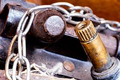 Junk (daveknight1946) Tags: junk macromondays metal bolt chain brass