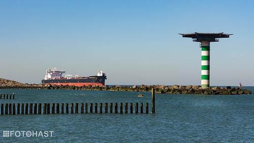 De entree tot de Rotterdamse haven