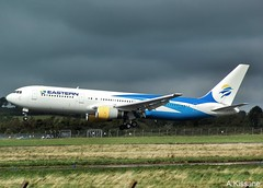 EASTERN AIRLINES B767 N700KW (Adrian.Kissane) Tags: ireland sky plane outdoors flying airport aircraft aviation flight jet aeroplane shannon airline eastern airliner arriving b767 shannonairport n700kw 25443 229–2019