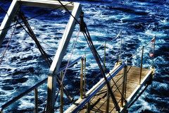 And The Sea, He Takes It All! (Alfred Grupstra) Tags: sea nauticalvessel sailing blue boatdeck water yacht wave yachting travel sailboat transportation cruise nature vacations sailingship summer cruiseship nopeople outdoors greece adriaticsea gangway