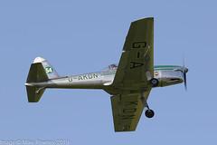 G-AKDN - 1946 build de Havilland Canada DHC-1A Chipmunk, turning to the North on departure from Barton (egcc) Tags: 11 barton chipmunk cityairport dhc1 dehavilland egcb gakdn gipsymajor large lightroom manchester morley dehavillandcanada