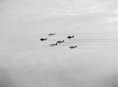 RV Aircraft Formation Flying (Lars_Holte) Tags: pentax 645 pentax645 645n 6x45 smcpentaxfa 200mm f40 120 film 120film analog analogue foma fomapan fomapan200creative 200iso rodinal aph09 mediumformat blackandwhite classicblackwhite bw monochrome filmforever filmphotography ishootfilm larsholte homeprocessing denmark danmark roskilde airshow rv formation flying aircraft explored