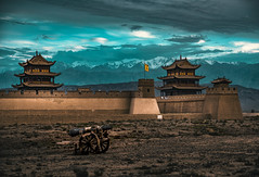 They Shall Not Pass (Cerratín) Tags: gobidesert greatwallofchina adventure ancient ancientcivilization archaeology architecture asia atmosphericmood awe beautyinnature brick castle china chineseculture cultures defending defensivewall desert dramaticsky dreamlike fort fortifiedwall freedom hiking history inspiration internationallandmark jiayuguan landscapemajestic moodysky mountain mysteryfantasy nopeople old oldruin pavilion rammedearth remotelocation scenics silence sky sunlight sunset surroundingwall tower tranquilscene travel traveldestinations unescoworldheritagesite vibrantcolor wall