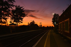 Somerleyton Sunset (richa20002) Tags: drs direct rail services intercity ic br large logo class 37 tractor thrash abellio greater anglia aga ga hellfire clag branch line norwich great yarmouth lowestoft wherry lines lhcs loco hauled service short set