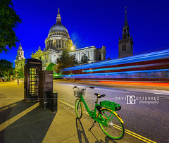St Paul's Cathedral - London, UK (davidgutierrez.co.uk) Tags: london photography davidgutierrezphotography city art architecture nikond810 nikon urban travel color night blue photographer tokyo paris bilbao hongkong uk bridge londonphotographer twilight bluehour colors colour colours colourful vibrant england unitedkingdom 伦敦 londyn ロンドン 런던 лондон londres londra europe beautiful cityscape davidgutierrez capital structure britain greatbritain ultrawideangle afsnikkor1424mmf28ged 1424mm d810 arts landmark attraction historic iconic icon touristattraction street streetphotography lighttrails traffic 倫敦 stpaulscathedral bike bicycle limebike