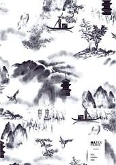 Sol-Insatsu-C03 (natexfrance) Tags: insatsu japonisant encre de chine toile jouy