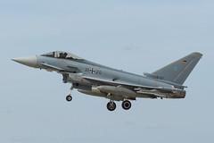 German EF-2000 (lee adcock) Tags: 3120 ef2000 exercisecobrawarrior2019 gaf nikond500 rafwaddington thewave airplane germanairforce nikon70200f28vri