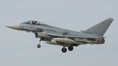 German EF-2000 (lee adcock) Tags: 3064 ef2000 exercisecobrawarrior2019 gaf nikond500 rafwaddington thewave airplane germanairforce nikon70200f28vri