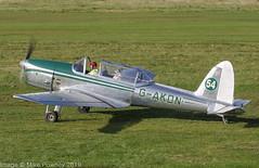 G-AKDN - 1946 build de Havilland Canada DHC-1A Chipmunk, taxiing for departure at Barton (egcc) Tags: 11 barton chipmunk cityairport dhc1 dehavilland egcb gakdn gipsymajor large lightroom manchester morley dehavillandcanada