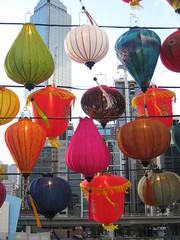 Chinese Lanterns by Day - Southbank Promenade, Melbourne (raaen99) Tags: color colour lamp paper colorful pattern chinese fringe fabric lantern colourful chineselantern pink blue light red brown white green floral yellow bronze navy magenta string lime tassel festival illumination australia melbourne victoria southbank corniche yarra lanternfestival yarrariver riveryarra chineselanternfestival southbankpromenade artsprecinct southbankprecinct southbankcorniche city building skyscraper river gold cityscape streetphotography vermilion fff photogroup melbournecbd famousflickrfive flickrfamousfive
