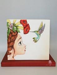 Hummingbirds (bennynna) Tags: airbrush airbrushing airbrushed painted cake cakedesign cakedecoration cakeart art sugar cakedecorating cakestagram instacake instapicture