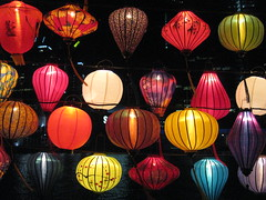 Chinese Lanterns by Night - Southbank Promenade, Melbourne (raaen99) Tags: lantern chineselantern chinese fabric paper lamp fringe pattern colour colourful color colorful green red white blue tassel string yellow magenta pink brown bronze floral lime navy light illumination festival chineselanternfestival lanternfestival southbank southbankcorniche corniche southbankpromenade artsprecinct southbankprecinct melbourne victoria australia yarrariver riveryarra yarra melbournecbd river cityscape streetphotography city fff flickrfamousfive famousflickrfive photogroup vermilion gold building skyscraper night