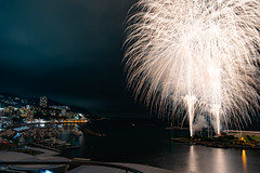 熱海海上花火大会 (danieltamkl) Tags: sony sel1635 1635gm sel1635gm wide night jpana japan travel asia long exposure firework fireworks hanabi landscape view nightview ngc