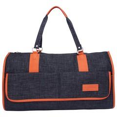 Travel Suit Foldable Bond Bag – Dark Grey Melange (urban122) Tags: duffle bags travel suit foldable bag urbantribe gym online shopping