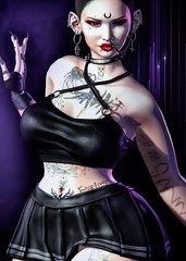 Natural Born Sinner (marduklust resident) Tags: sl avatar second life dae fangs asteroidbox asteroid boc box hotink swallow suicidal unborb su dubai anthem unborn wcf flairs for event