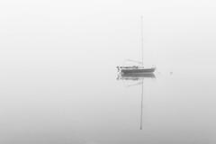 Floating (alanwsmithphotography) Tags: floating boat water reflection landscape nature naturephotography minimalism minimalist blackandwhite absoluteblackandwhite lakedistrict derwentwater kasefilters nikon nikond750 nikkor outside mist