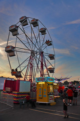 Ferris Wheel (George Neat) Tags: 2019 norvelt mt pleasant township westmoreland county fair fairgrounds pa pennsylvania outside tourism entertainment greensburg georgeneat patriotportraits neatroadtrips laurelhighlands amusement scenic scenery landscape ferris wheel sunset carnival ride people