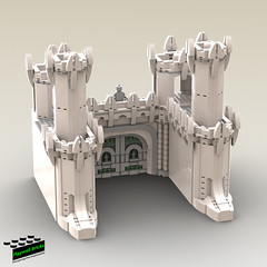 Minas Tirith WIP 4 - Gate House (Playwell Bricks) Tags: lego legotechniques legoideas legophotography legopictures legoart art architecture design creativity toys toyphotography thelordoftherings minastirith lotr legolordoftherings
