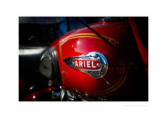 Ariel Red Hunter (G. Postlethwaite esq.) Tags: ariel dof derbyshire heagewindmill unlimitedphotos bokeh classicbikes depth motorbike motorcycle photoborder selectivefocus redhunter