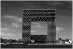 Oude Houthaven (LeonardoDaQuirm) Tags: blackwhite architecture netherlands amsterdam houthaven ij ijsselmeer nordzee