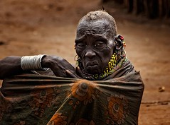 Turkana Tribe (Rod Waddington) Tags: africa african afrique afrika uganda ugandan turkana traditional tribe tribal grandmother candid streetphotography portrait people culture cultural elder aged village woman outdoor