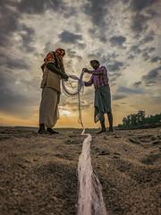 ∞ Fish Net (001nitish.sharma) Tags: fishermen fish fishnet hardwork fishing net infinite work sunrise morning cloudy overcast