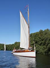 "Wherry Yacht ""Olive"". (Neil Harvey 156) Tags: wherryyachtolive wherryyacht wroxhambroad wroxham norfolkbroads norfolk"