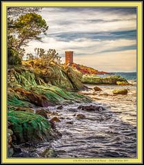 'Tintin'  -  L'île d'Or as Seen from Port du Poussaï (DXW1978) Tags: lîle dor port du poussaï st raphael france sea sky rocks beach colour tintin tower fort island