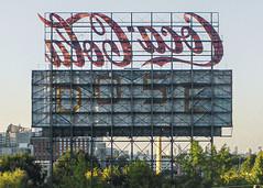 Coca Cola sign / Atlanta (swampzoid) Tags: cocacola cola coke sign billboard atlanta skyline backward beverage drink carbonated soda pop coca downtown landmark