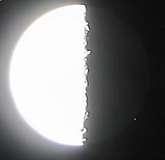 End of lunar occultation of Zeta Tauri (ζ Tau) (filipp.romanov) Tags: astronomy primorsky krai russia moon occultation stars