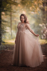 Sophia ({jessica drossin}) Tags: jessicadrossin wwwjessicadrossincom face girl dress outdoors naturallight portrait netherlands fall autumn actions overlays path forest golden