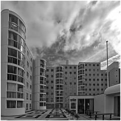 Seinpost Scheveningen (LeonardoDaQuirm) Tags: blackwhite architecture netherlands seinpost denhaag thehague scheveningen