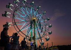Faulkner County Fair 2019 (snolic...linda) Tags: fujixt2 501 arkansas fair faulknercountyfair ferriswheeltwilight sunset bluehour fairrides
