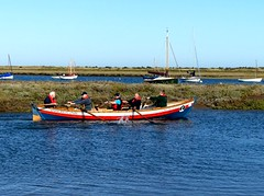 pull away together 21.9.19 (ericy202) Tags: rowing skiff kings lynn coastal club brancaster staithe national trust