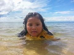 Girl in Shallow Surf, Cambodia (jasonrosette) Tags: camerado jrosette jasonrosette holiday water girl kid swim child shore beach cambodia asia tide waves sunny