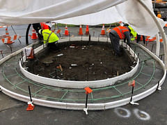 The Concrete Work Must Go On! Building a structure for the traffic circle (Seattle Department of Transportation) Tags: seattle sdot transportation bestofsdot concrete crew creative tarp rain traffic circle beacon hill bayview