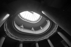 Light above... (jeangrgoire_marin) Tags: lookingup light perpsective monochrome paris