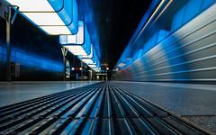 Down on Skid Row (katrin glaesmann) Tags: hamburg germany tube metro ubahn station ubahnhof hvv u4 hafencityuniversität colour train moving