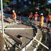 Anatomy of a Curb Ramp: Darryl Shears, I Espinoza, Savang Suth, and Alex Savini work on finishing the first pour