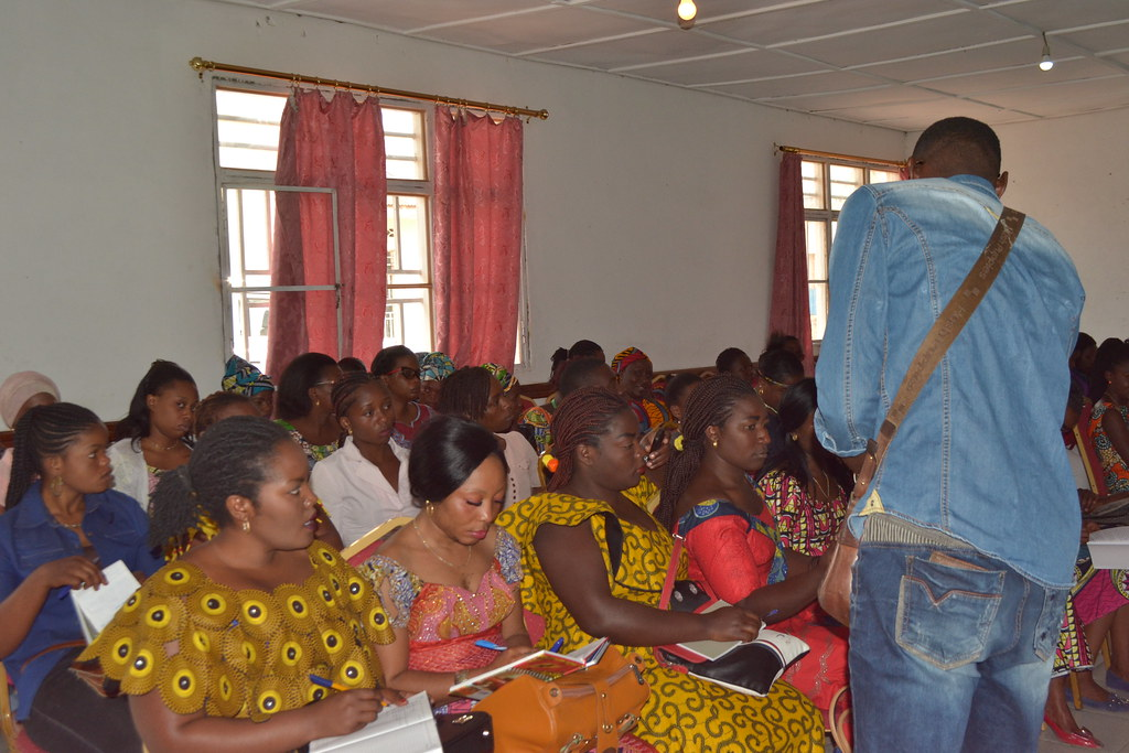 Parenting classes and small income community self help group/business training in Goma.