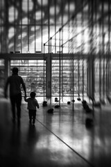 take them by the hand (max dense) Tags: streetphotography street shadow shilouette abstract architecture art blackandwhite bw urban monochrome reflection nikon
