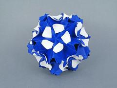 Ariel (masha_losk) Tags: kusudama кусудама origamiwork origamiart foliage origami paper paperfolding modularorigami unitorigami модульноеоригами оригами бумага folded symmetry design handmade art