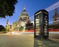 St Pauls (Nathan J Hammonds) Tags: london st pauls cathedral city uk telephone box bus long exposure dusk blue sky hour lights nikon d850
