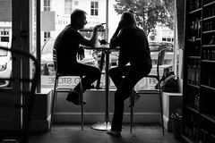 Caracoli Couple (Silver Machine) Tags: alresford hampshire streetphotography street candid coffee coffeeshop couple silhouette window cafe caracoli sitting fujifilm fujifilmxt3 fujinonxf35mmf2rwr