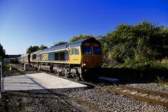 66715 Dinnington Jn 19 Sep 19 (doughnut14) Tags: 66715 valour gbrf rail freight diesel loco coal westburton syj northblyth cum shed 4d82