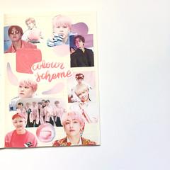 volume 1: bts journal (samanthajournals) Tags: jungkook jimin bts rm bighit collage art journal journaling pink stationery jin jhope suga v