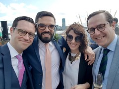 2019-07-20: Wedding Guests (psyxjaw) Tags: london eastlondon docklands dockland river thames trinity buoy wharf wedding guest suit