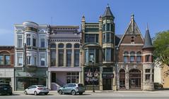 Buildings — Celina, Ohio (Pythaglio) Tags: buildings structures historic commercial ornate celina ohio mercercounty romanesque neoclassical colorful queenanne turrets cornice