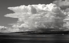 Storm cloud (L@nce (ランス)) Tags: bw monochrome landscape skyscape seascape cloud cloudy sky water oce sea salish pacific juandefuca victoria canada britishcolumbia nikon